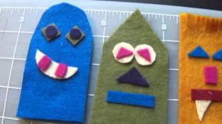 How To Make Cute Felt Finger Monster Puppets!