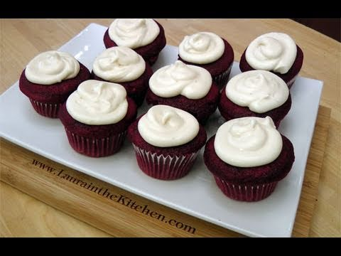 How to Make Red Velvet Cupcakes w/ Cream Cheese Frosting – Laura in the Kitchen Ep 109