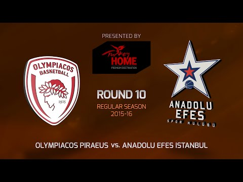 Highlights: RS Round 10, Olympiacos Piraeus 68-81 Anadolu Efes Istanbul