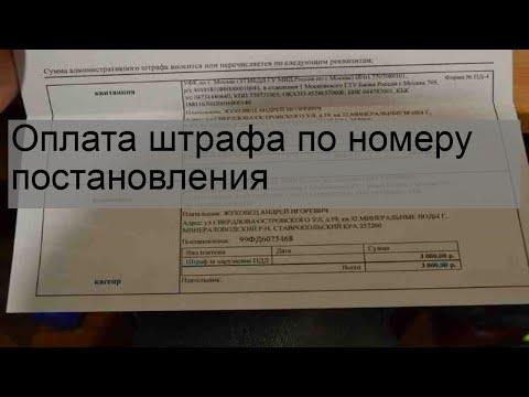 Оплата штрафа по номеру постановления