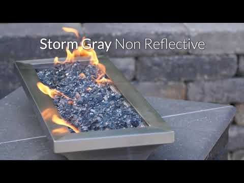 Storm Gray Non-Reflective Fire Glass | BBQGuys Signature Series