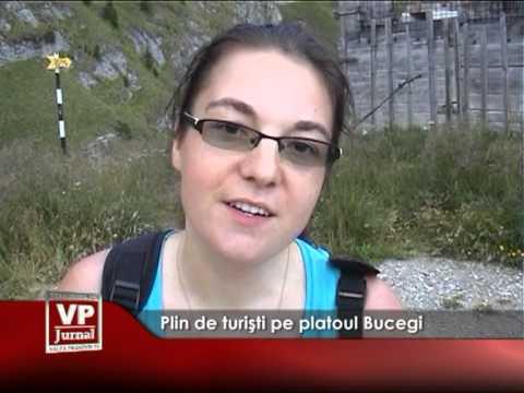 Plin de turişti pe platoul Bucegi