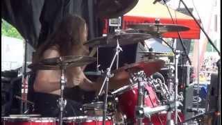 "Job For A  Cowboy Drum Cam Jon "" The Charn"" Rice Mayhem Fest Entombment Of A Machine"