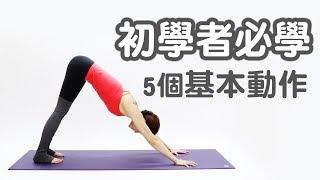 初學瑜伽必學五個動作|Vicky老師|YogaAsia 亞洲瑜伽 by 亞洲瑜伽Yoga Asia