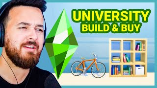 The Sims 4 University Build Buy Overview!