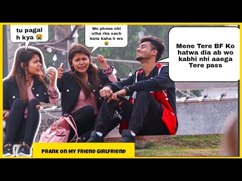 Prank On My Friend Girlfriend 😂 || Epic Reaction || SAHIL KHAN production