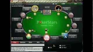 POKER LAG Auf POKERSTARS SNG 1,5$ (Pokerschule Deutsch Kommentiert) Teil 1