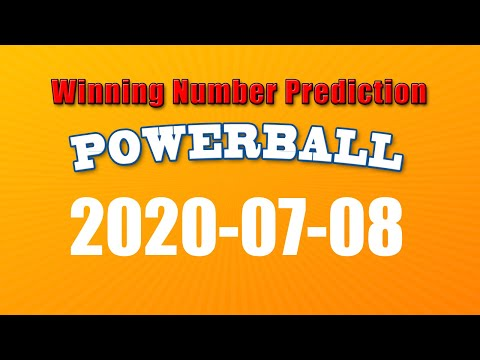 Winning numbers prediction for 2020-07-08|U.S. Powerball