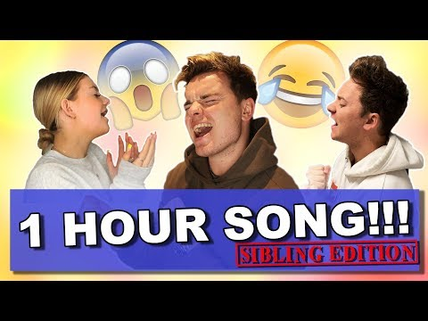 SIBLING ONE HOUR SONG CHALLENGE | ft. Conor Maynard & Anna Maynard