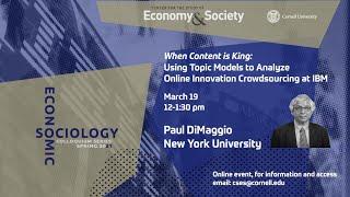 Paul DiMaggio, NYU – 3/19/21