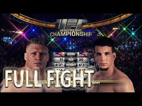 Brock Lesnar vs Frank Mir FULL FIGHT - UFC Fight Night - UFC 100
