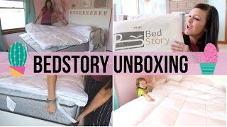 BEDSTORY MATTRESS TOPPER AND PILLOWS UNBOXING | HONEST REVIEW |