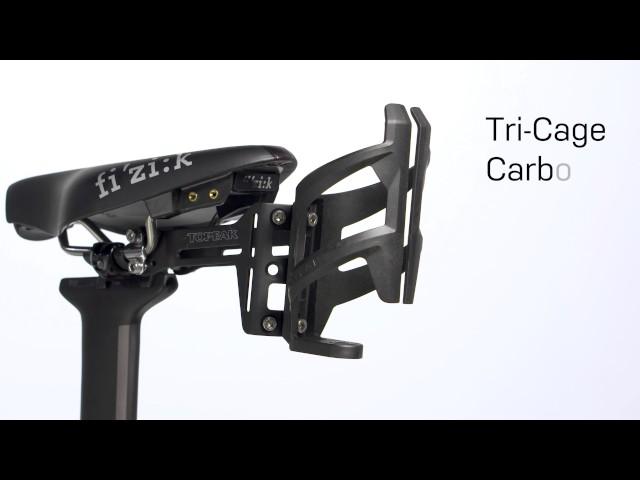 Видео Флягодержатель Topeak Tri-Cage Carbon черный