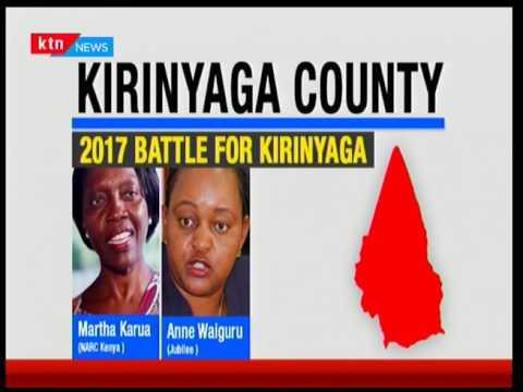 Kirinyaga Battle : Martha Karua to face it off with Jubilee nominee Anne Waiguru