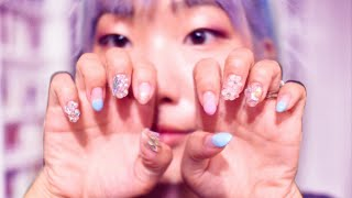 Do My Nails With Me (korean Crystal Nails) LOWKEY ASMR