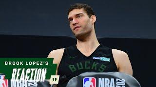 Brook Lopez NBA Finals Media Availability | 7.19.21