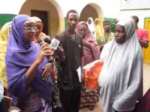 Hon Commissioner of Women Affairs Sokoto State during UNFPA's support