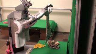 (50X) Autonomously folding a pile of 5 previously-unseen towels