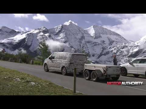 2021 Volkswagen Transporter T7 spy video