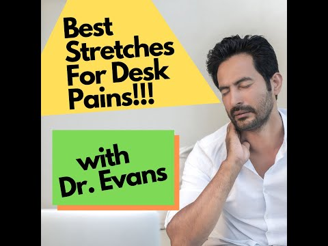 Best Desk Stretches for Neck Pain, Upper Back Pain, Low Back Pain and Hip Pain for Immediate Relief!