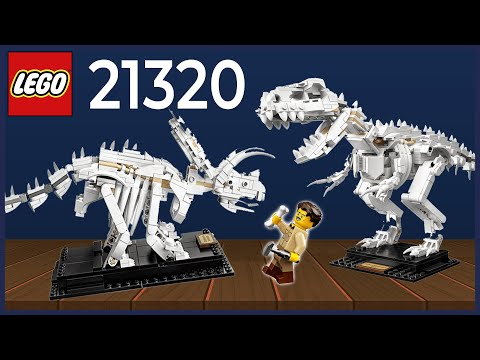 Vidéo LEGO Ideas 21320 : Les fossiles de dinosaures