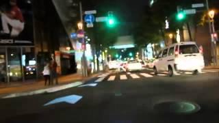 札幌の自転車通行空間夜間