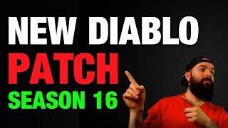 Diablo 3 Patch 2.6.4 Notes Season 16 Reaction
