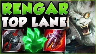 STOP PLAYING RENGAR WRONG! RENGAR TOP LANE IS TOO BUSTED! RENGAR TOP GAMEPLAY! - League of Legends