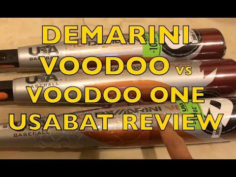 2018 DeMarini Voodoo USA Bat vs Voodoo One Baseball Bat First Review True Weight & Barrel Length