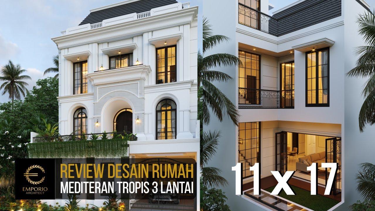 Video 3D Desain Rumah Mediteran 3 Lantai Ibu Febriana - Jakarta