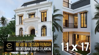 Video Desain Rumah Mediteran 3 Lantai Ibu Febriana di  Jakarta