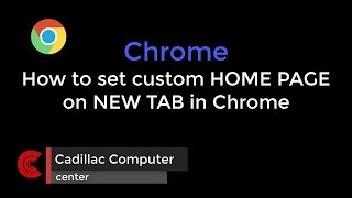 How to set NEW TAB custom homepage in CHROME browser