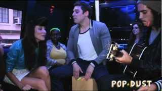 "Karmin perform ""Hello"" on the POPDUST Party Bus"