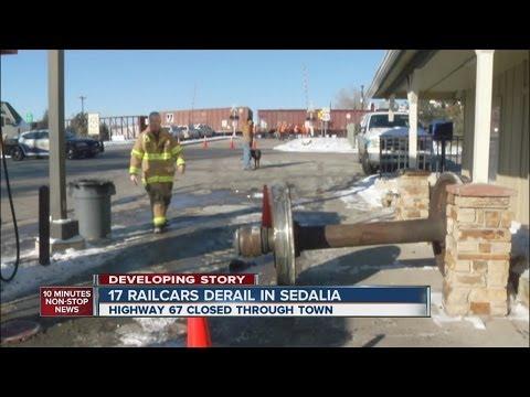 Railroad derailment caught on tape