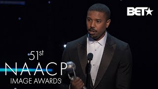 "Michael B. Jordan Wins Outstanding Actor In A Motion Picture For ""Just Mercy"" 