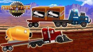 Крутые гонки на грузовиках машинки мультик для детей игры для мальчиков игра Forest Truck Simulator