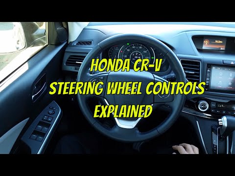 2015 Honda CRV Steering Wheel Controls Explained