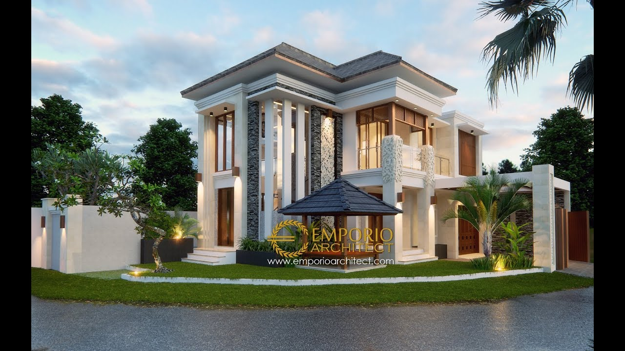 Video 3D Desain Rumah Hook Villa Bali 2 Lantai Bapak Adit Brata II di Jakarta