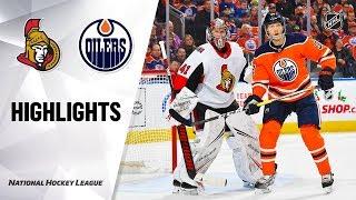 NHL Highlights   Senators @ Oilers 12/4/19