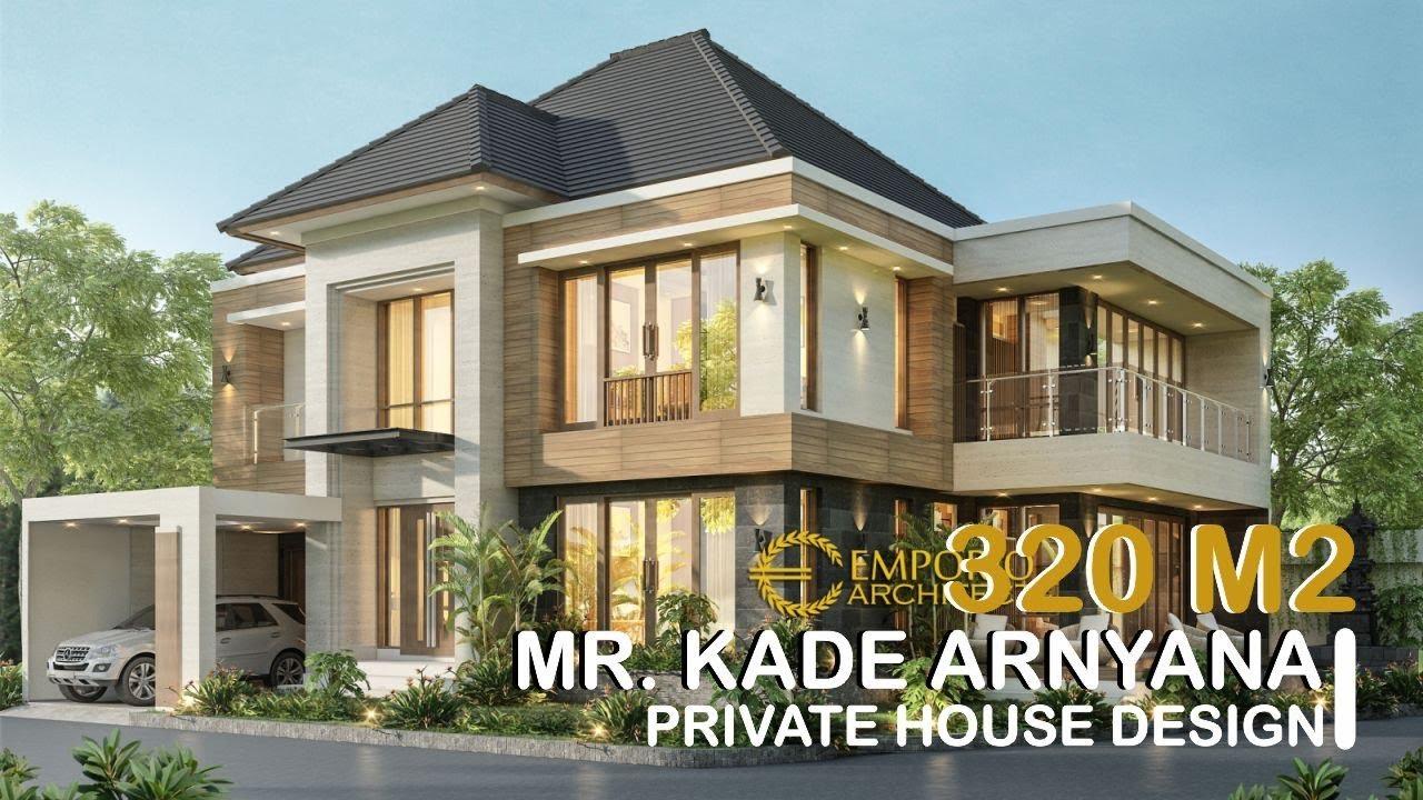 Video 3D Desain Rumah Hook Modern 2 Lantai Bapak Kade Arnyana di Badung, Bali