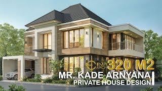 Video Desain Rumah Hook Modern 2 Lantai Bapak Kade Arnyana di  Badung, Bali