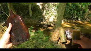Creek Search For Antique Bottles: What Is This GIANT Bottle????