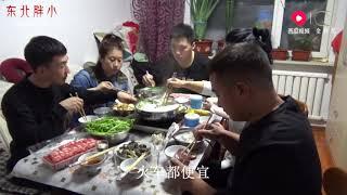 东北胖小:上我大姨家吃饭 我大姨给我们准备一桌子菜