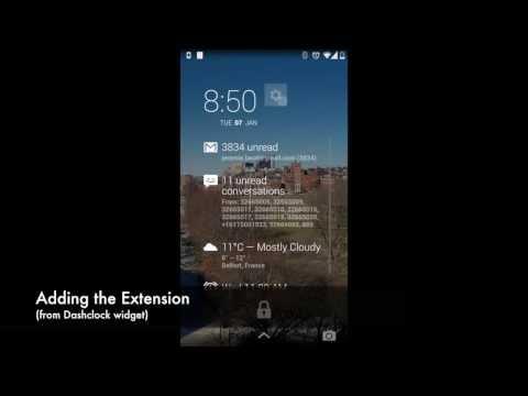 Video of Pebble Battery for DashClock