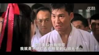 《精武英雄》陈真(李连杰饰)以一人之力击败众多黑龙会喽啰