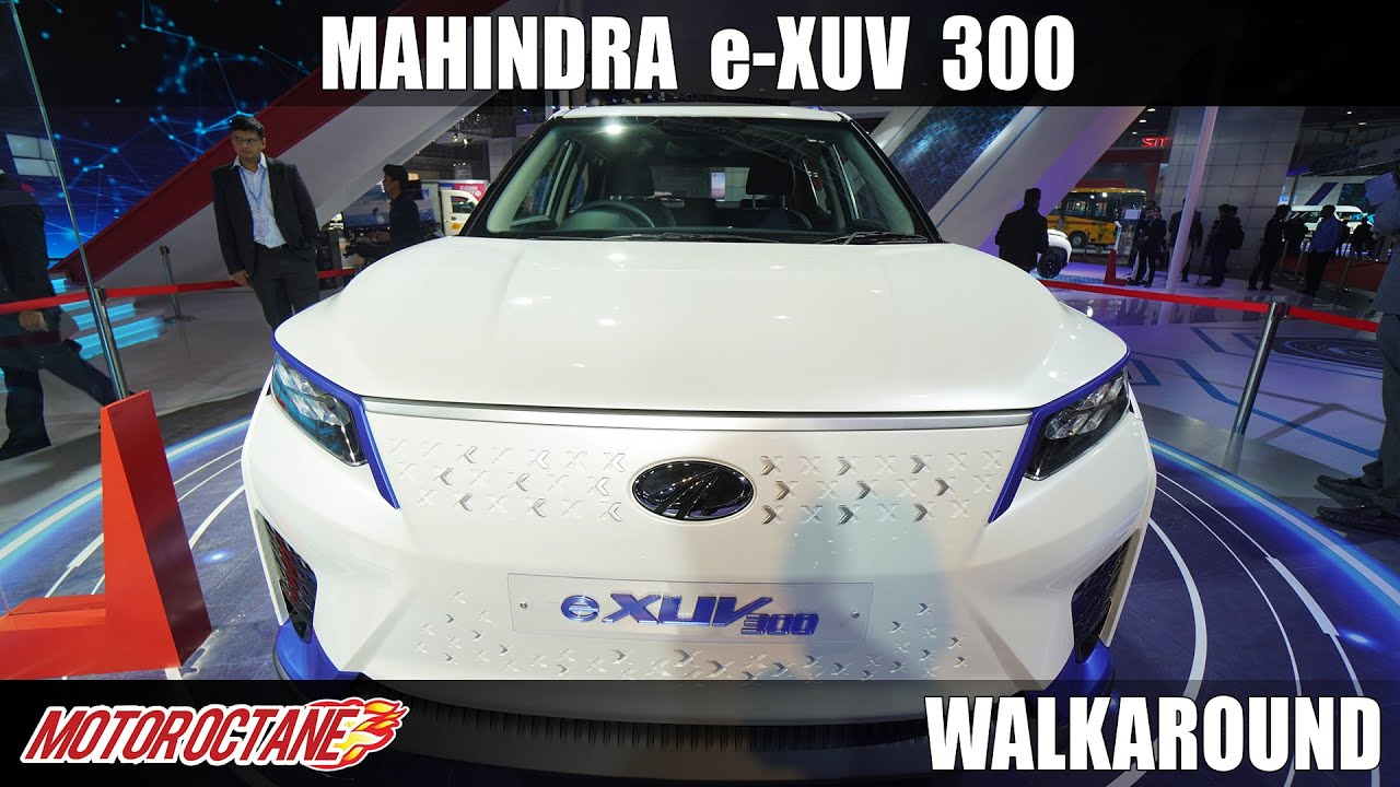 Motoroctane Youtube Video - Mahindra eXUV 300 - Interiors Revealed | @Auto Expo 2020 |Hindi | Motoroctane