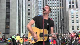 "COLDPLAY - Introduction and ""Yellow"" - Live in New York City TODAY Show - March 14, 2016 [HD][HQ]"