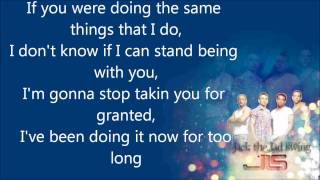 JLS- Apology Song, with lyrics