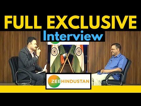 Arvind Kejriwal Full Interview on Zee Hindustan