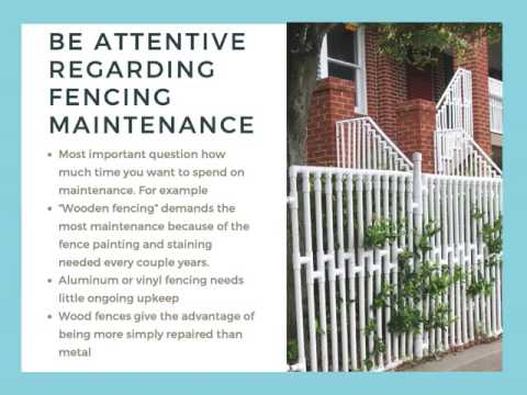 Crucial Facts To Know About Residential Fencing